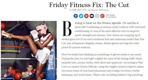 British Vogue - THE CUT Class Review