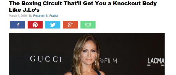 Health.com - The Boxing Circuit That'll Get You a Knockout Body Like J.Lo's