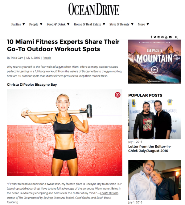 OceanDrive.Com - 10 Miami Fitness Experts Share Their Go-To Outdoor Workout Spots