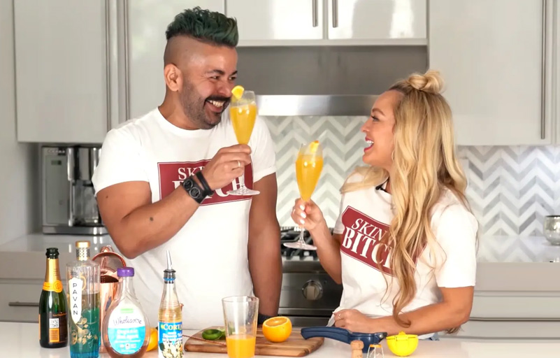 Enjoy some Seaside Bellini's with Chef Sami Rodriguez, CEO & Founder of Miami's Love & Spice with a Pinch of Salt!